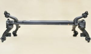 Rear axle Peugeot 206, 206+ hatchback  (1998-2013) – drums, without ABS – 2BB