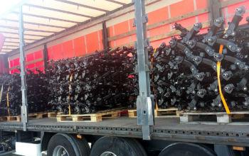 Załądowany TIR belkami na export do Francji